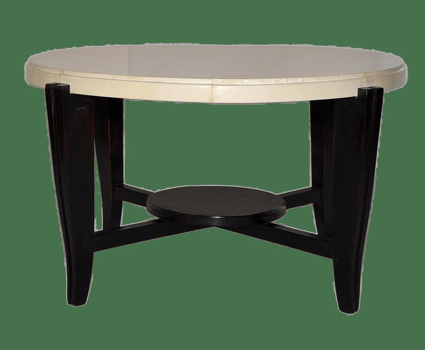 Tavolino rivestito in pergamena
